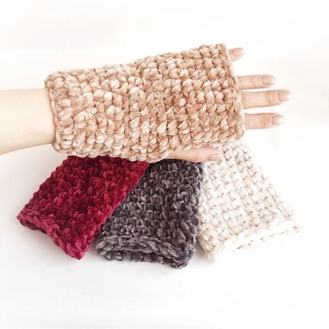 手編み雑貨 HanahanD ハンドウォーマー 冬小物 手袋