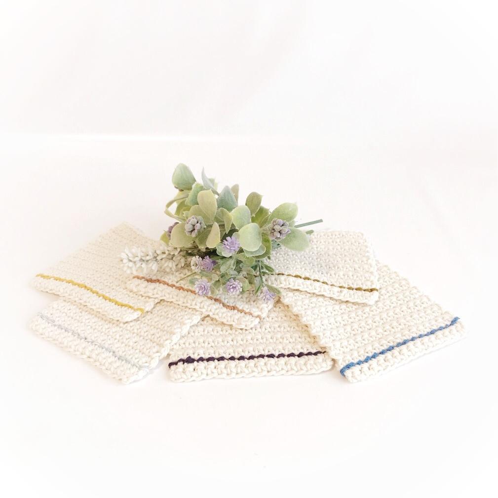 手編み雑貨 HanahanD シンプル コースター セット