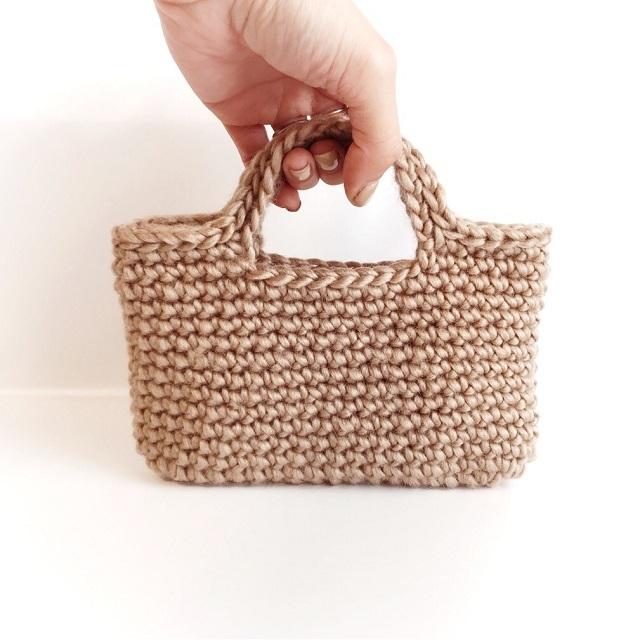 手編み雑貨 HanahanD スマホバッグ アイフォンケース ポーチ スマホ