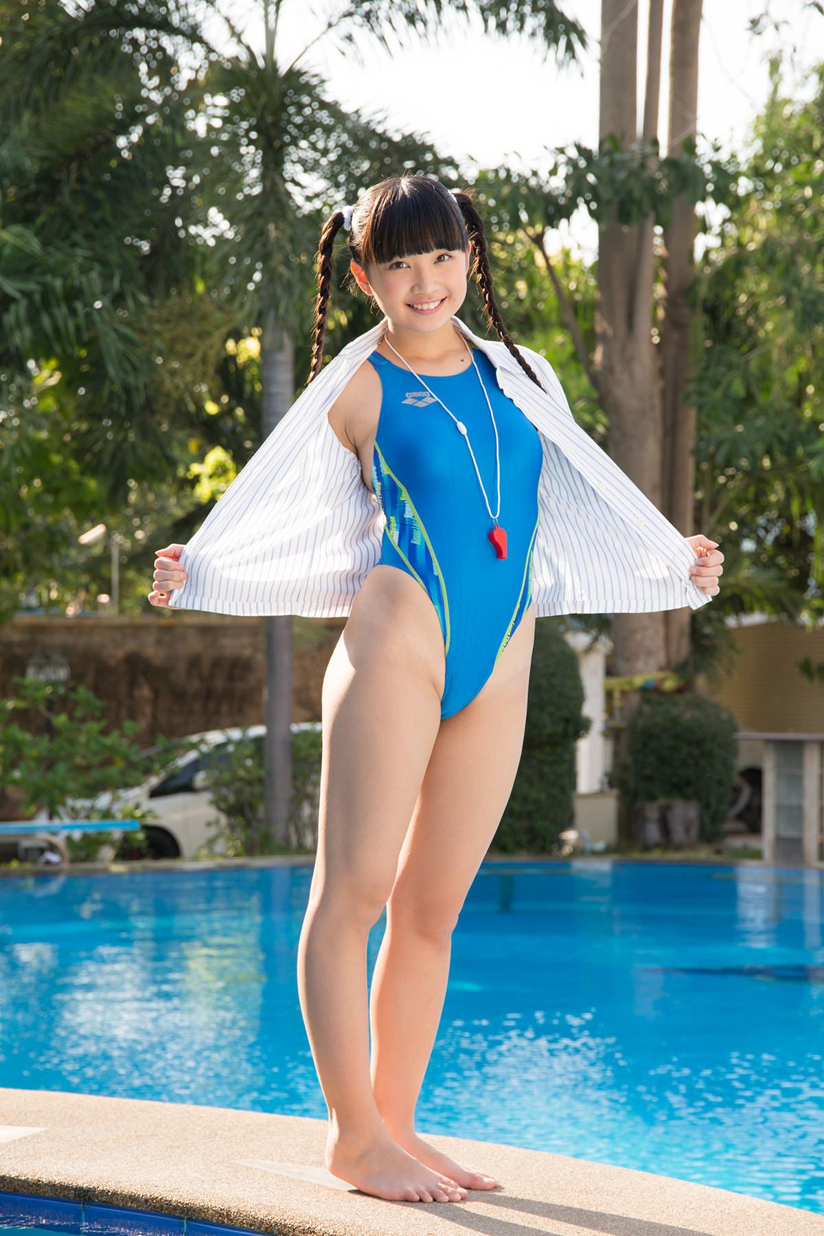 ジュニアアイドル 競泳用水着