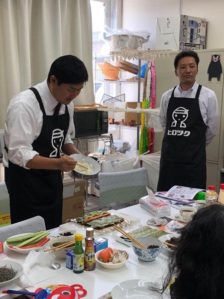 巻き寿司実践⑩