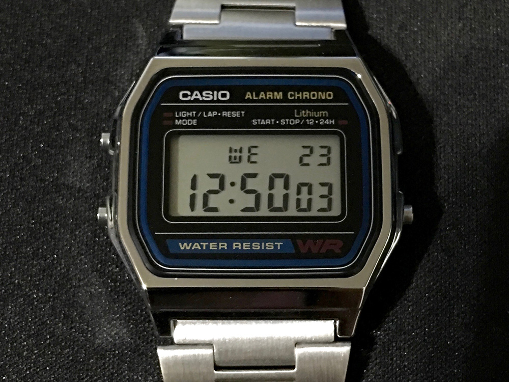 CASIO 腕時計 A158WA-1JF_2
