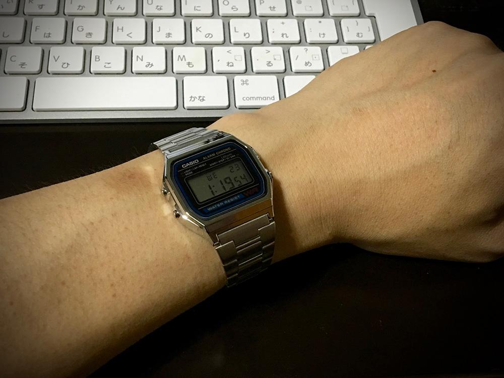 CASIO 腕時計 A158WA-1JF_4