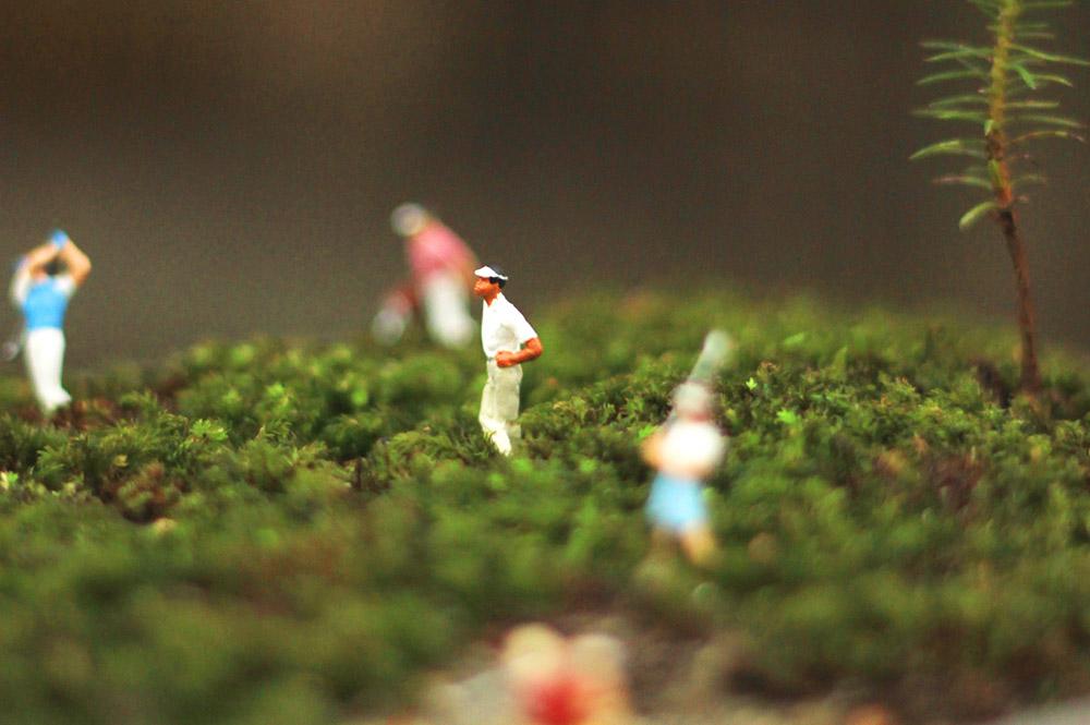小人と盆栽
