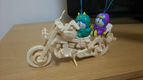木製オートバイ