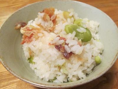 アコウダイと空豆の炊き込みご飯1