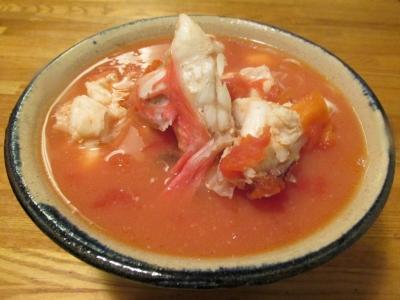 オニカサゴのトマトにゅう麺1