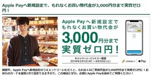 Apple Pay×三井住友カード