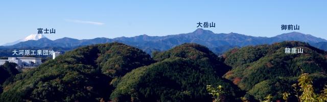 ☆20-3天覧山からの眺め 富士山 大岳山 御前山 IMGP8189