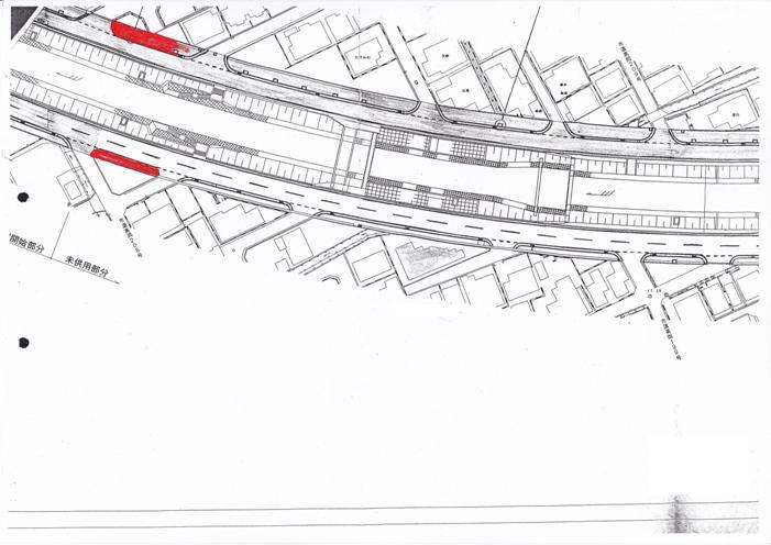 2車線1歩道に変更