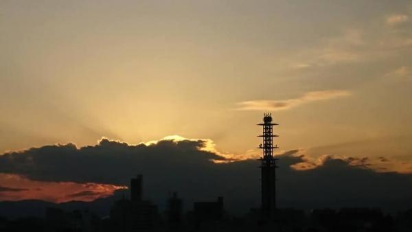 夕陽が消え去る