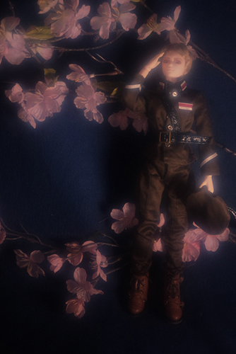PARABOX、27cmスリム、弥勒ヘッド、メイクカスタム、桜に戦死した戦友を想う軍服の礼二郎