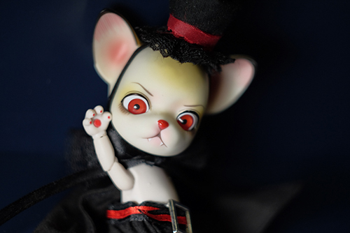 球体関節人形のアニマルドール、パンジュ・ブラックルシアン