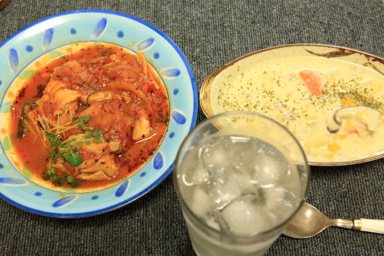 ブログ 鶏肉のトマトソース煮とホワイトシチュー.jpg