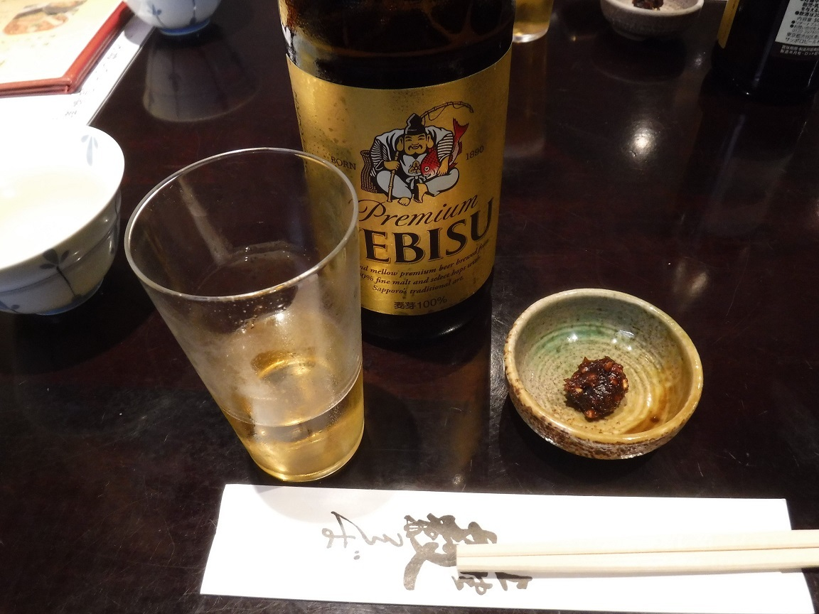 ブログ 上の藪蕎麦で一休み ビール.jpg