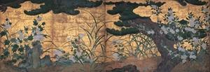 松に秋草図