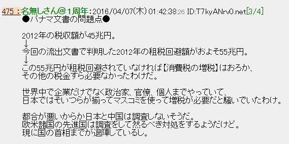【タックスヘイブン】 日本政府「パナマ文書の調査はしない」 日本では400の人・企業からも続々発覚!国内についての報道はだんまり他人事…スノーデン氏「史上最大のリークだ」
