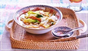 寒い日は麺