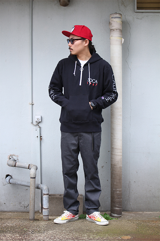 standard california Champion × SD Reverse Weave Half Zip Hood6