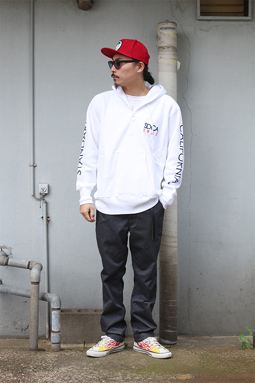 standard california Champion × SD Reverse Weave Half Zip Hood17