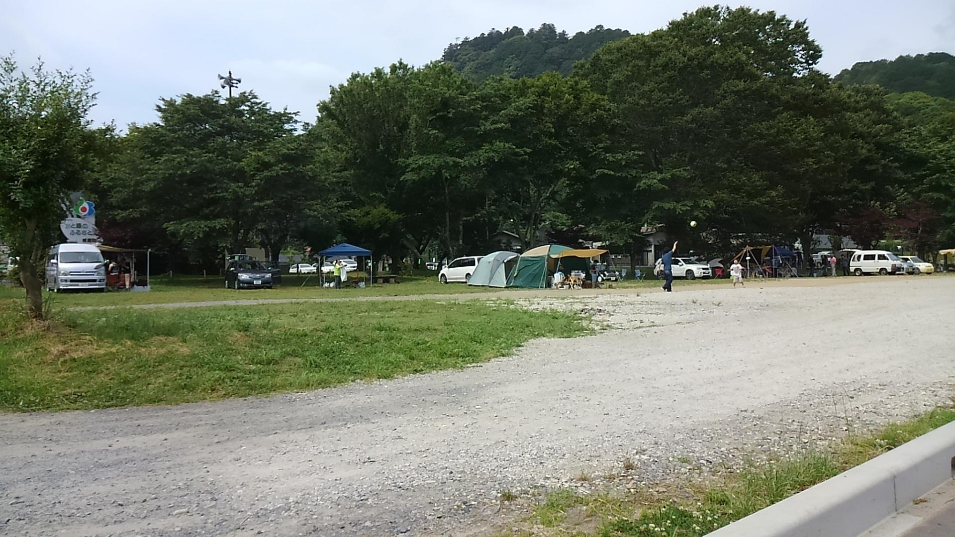 道の駅かつら 河川敷