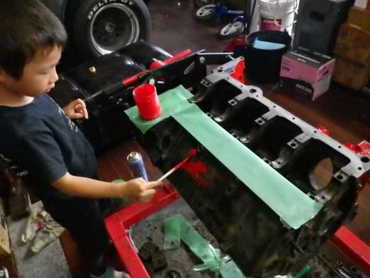 エンジンブロック塗装 (10)