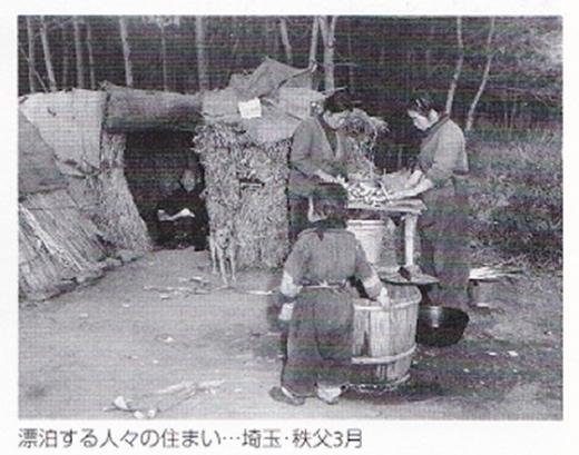 バラック漂泊する人々1954