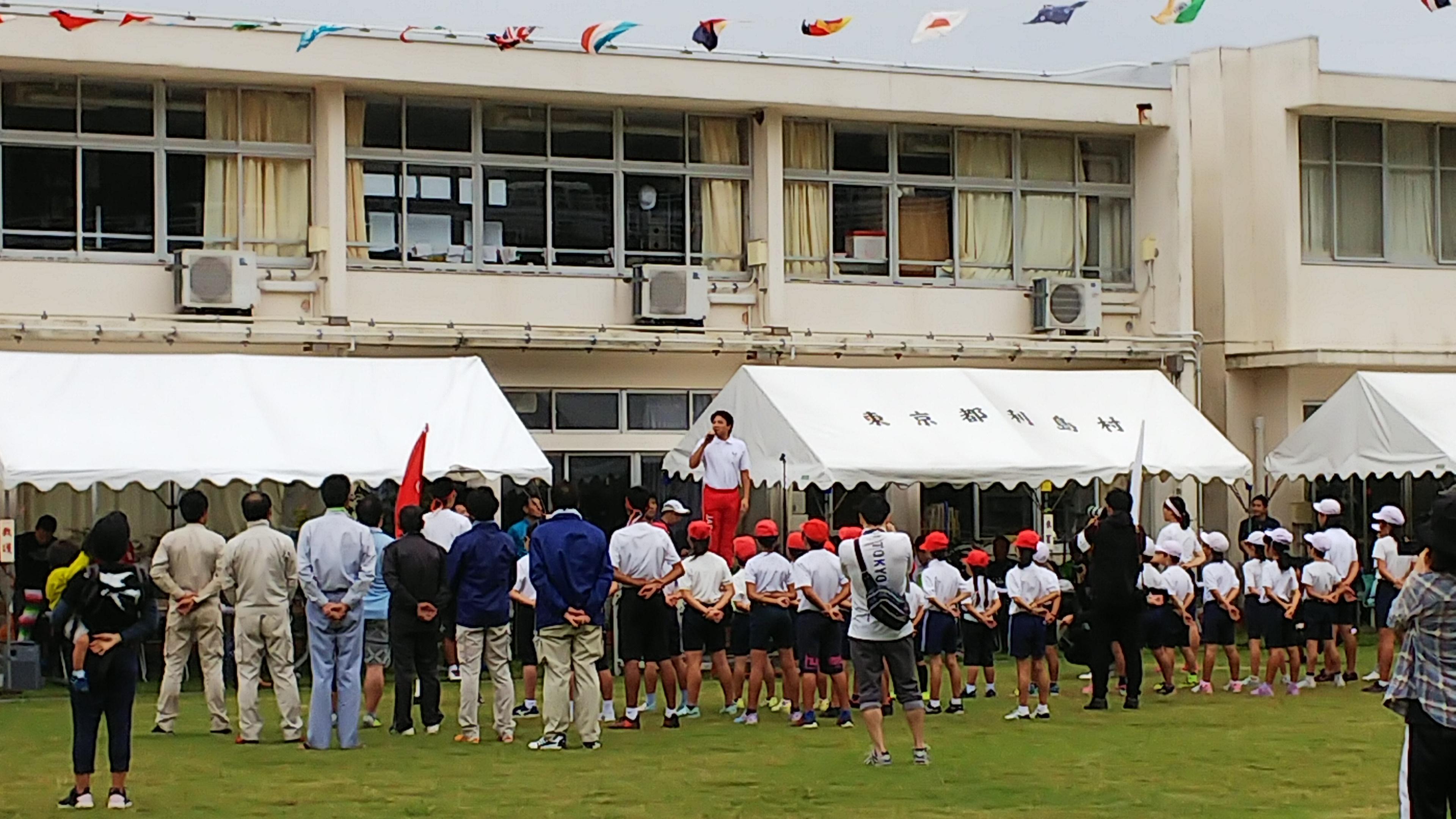 運動会-池谷先生開会式