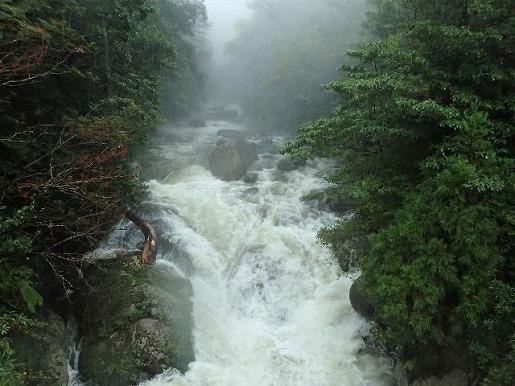 10月4日 増水した白谷川