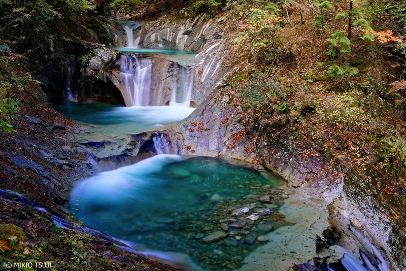 絶景探しの旅 - 0752 秋の七ツ釜五段の滝 (西沢渓谷 山梨県 山梨市)