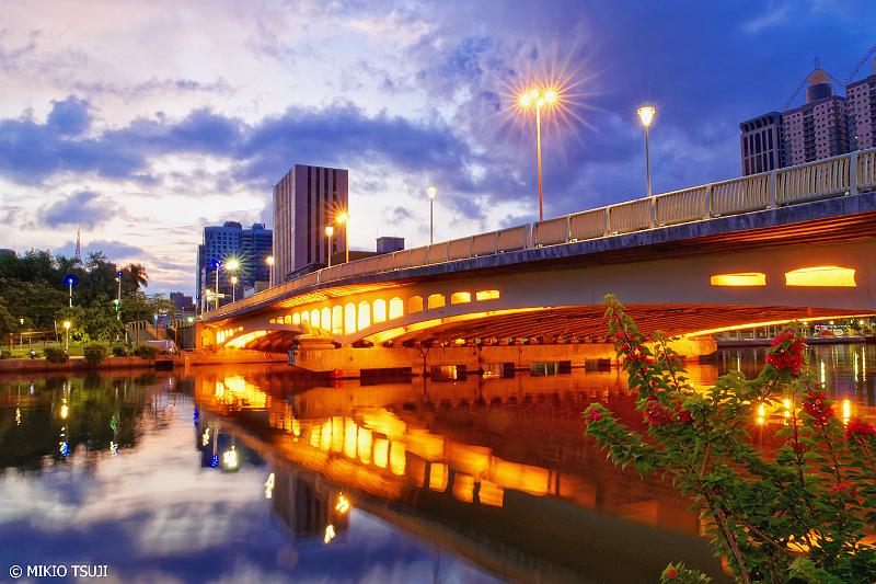 絶景探しの旅 - 0758 夜明けの中正橋 (台湾 高雄市)