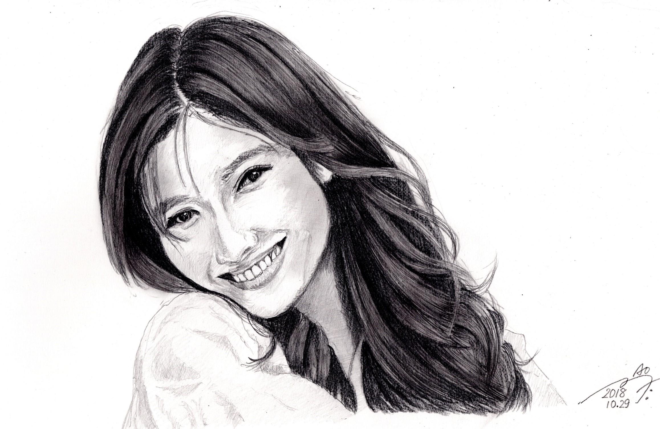 篠原涼子 鉛筆画似顔絵